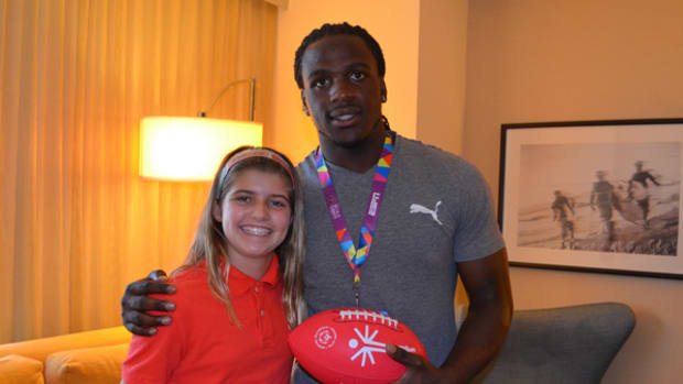 Kansas City Chief Jamaal Charles Inspires at Special Olympics World Games