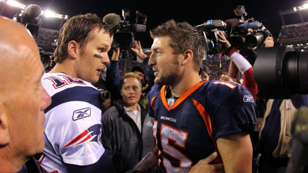 Tim Tebow and Tom Brady — Teammates
