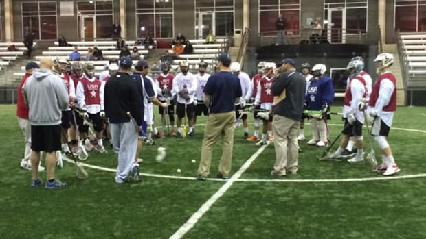 Hopeful Athletes Try Out for US Indoor Lacrosse Squad