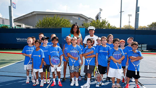 Laila Ali Trades the Boxing Ring for Tennis Court at US Open