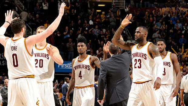 Cavs Players — and Fans — Celebrate Playoff Spot