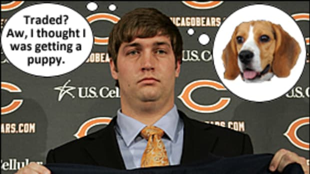 Jay Cutler Looks Really, Really Sad