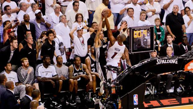 Chris Bosh Block Sends Heat to Game 7