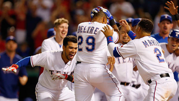 "Adrian ""Don't Touch My Head"" Beltre Plays Duck-Duck-Goose"