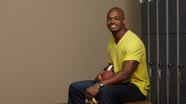 Vikings Running Back Adrian Peterson on EpiPens, Injuries, and Rushing for 2,500 Yards This Season