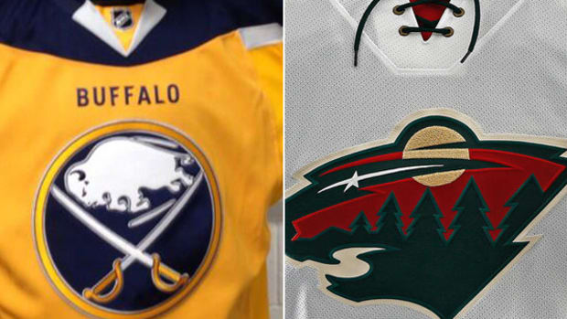 Sabres, Wild, and Sharks Unveil New Jerseys