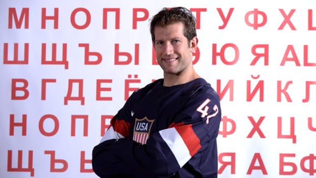 2014 Winter Olympics Interviews: David Backes, US Men's Hockey