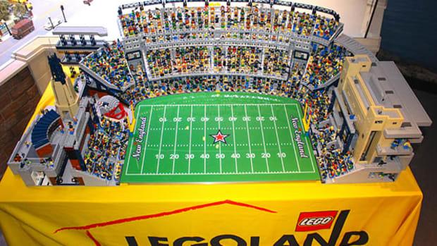 Gillette Stadium Gets Bricked