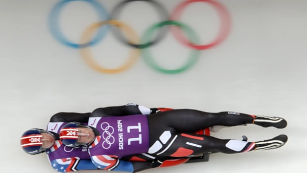 The View from the Sled During an Olympic Luge Run