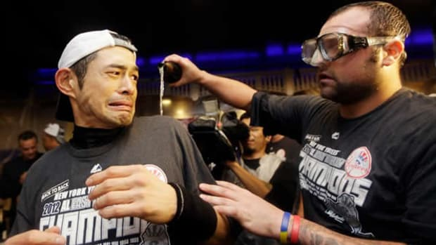 Ichiro and Joba star in the best division clinching photo ever