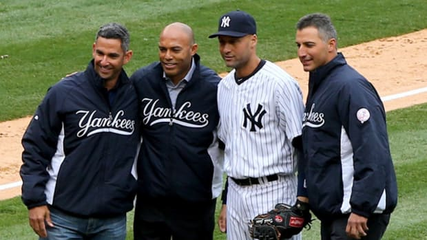 Core Four Joins Derek Jeter for the Captain's Last Opening Day