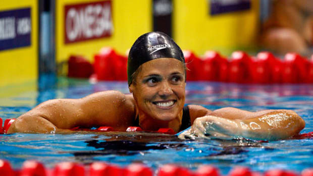 "Olympic Legend Dara Torres Declares Swimming the ""Funnest"" Sport"