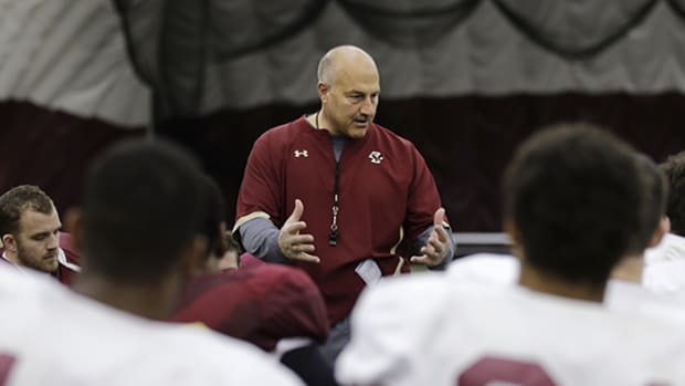 Boston College Football Coach Inspires Kids to Be Leaders