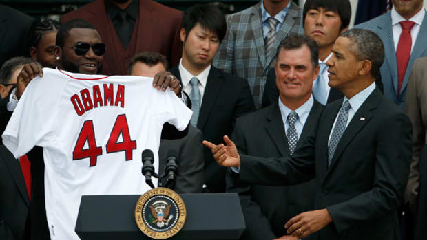 President Obama Celebrates the Red Sox Have at the White House