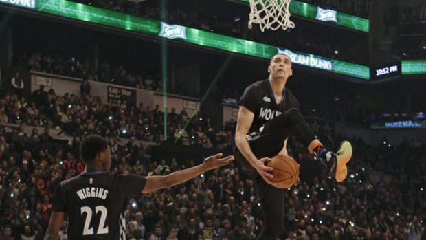 NBA All-Star Weekend Day 2: Zach LaVine Slams The Roof off of Barclays