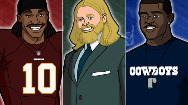 RGIII, Nick Mangold Get Animated for NFL Rush Zone Draft Special