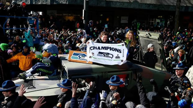 Scenes from the Seattle Seahawks Super Bowl Parade