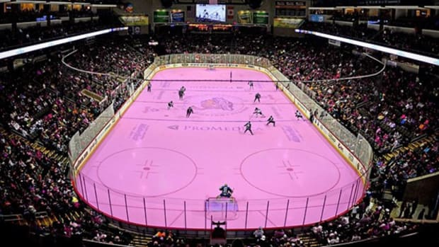 Toledo Walleye Promote Breast Cancer Awareness with Pink Rink