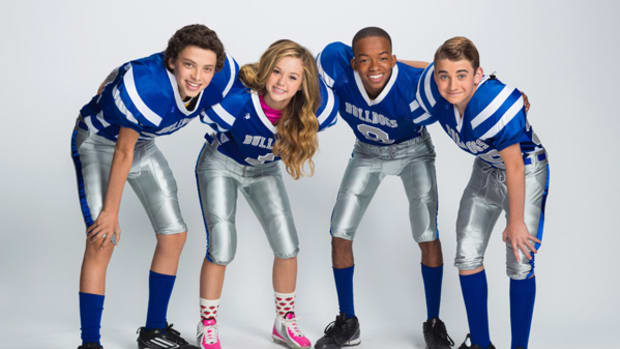 Brec Bassinger Shows the Boys How Football is Played