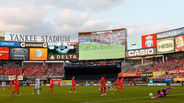 Soccer Invades Yankee Stadium!