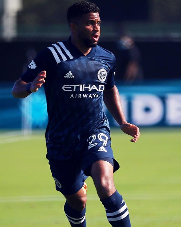 New York City FC midfielder Ismael Tajouri (left); Shaan Gandhi (right)