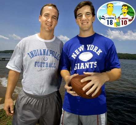 Sports Figures on The Simpsons - 1 - Peyton and Eli Manning