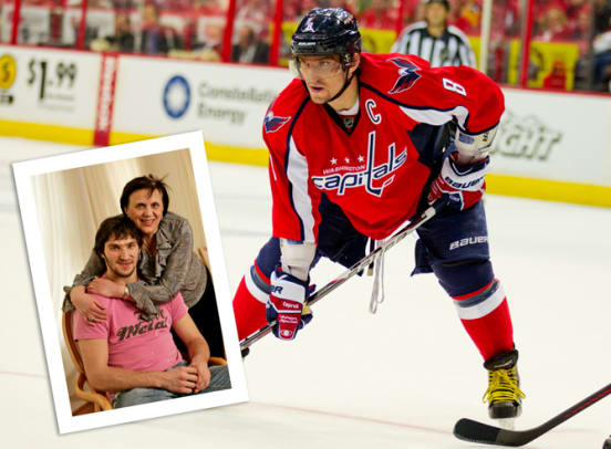 Sports Stars With Their Athlete Moms - 1 - Alex and Tatiana Ovechkin