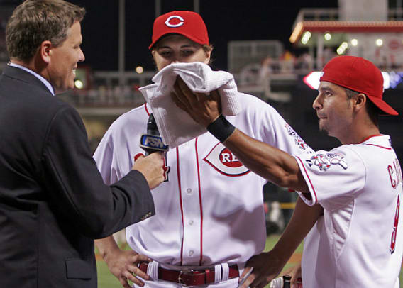 Celebratory Pies in the Face - 22 - Homer Bailey