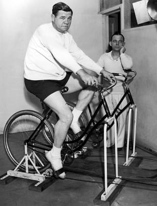 Sports Figures On Bicycles - 1 - Babe Ruth