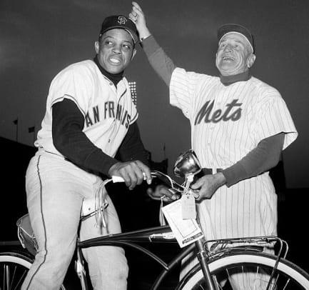 Sports Figures On Bicycles - 2 - Willie Mays, Casey Stengal