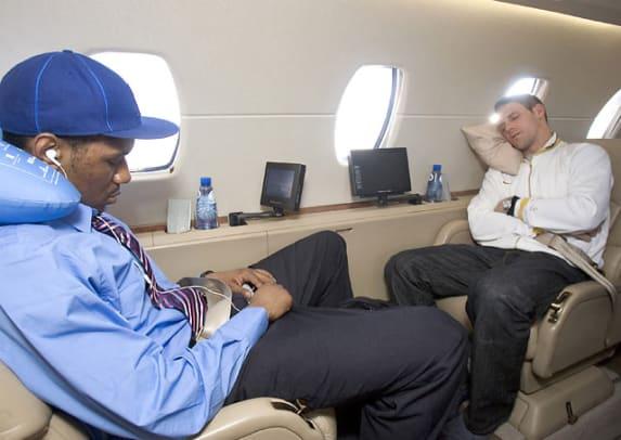 Athletes on Airplanes - 20 - Shani Davis and Chad Hedrick