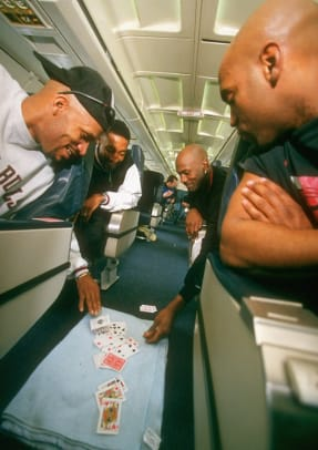 Athletes on Airplanes - 2 - Ron Harper, Scottie Pippen and Michael Jordan