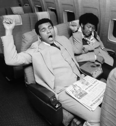 Athletes on Airplanes - 1 - Muhammad Ali