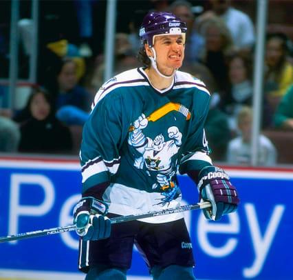 Top 10 Terrible Hockey Sweaters - 1 - Anaheim Mighty Ducks (1995-96)
