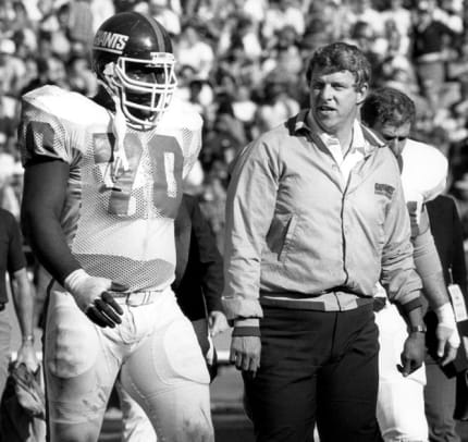 Classic Photos of Bill Parcells - 2 - Bill Parcells and Leonard Marshall