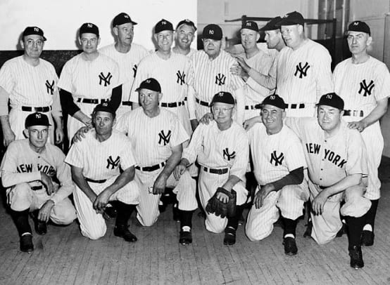 Yankees' 27 World Championships - 1 - 1923 (during 1948 reunion)