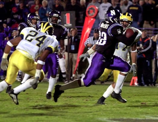 2000s: Top 10 College Football Games - 1 - Northwestern 54, Michigan 51