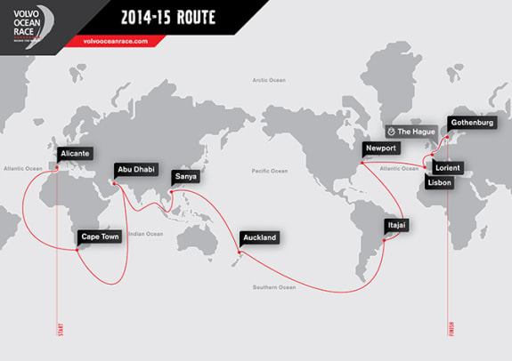 Volvo Ocean Race - 1 - The 11-Month Route Map