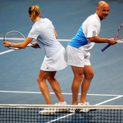 Iconic Photos of Andre Agassi - 20 - Steffi Graf and Andre Agassi
