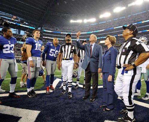 Eli Manning Outside the Huddle - 1