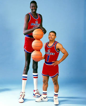 Hoops Style Through the Years - 1 - Manute Bol and Muggsy Bogues