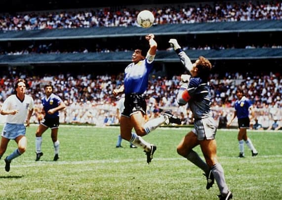 "Pinnacle Moments in World Cup History - 1 - Diego Maradona's ""Hand of God"""