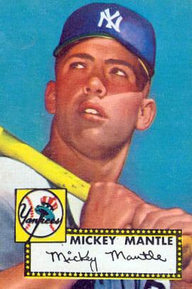 Rare Topps Baseball Cards - 2 - Mickey Mantle