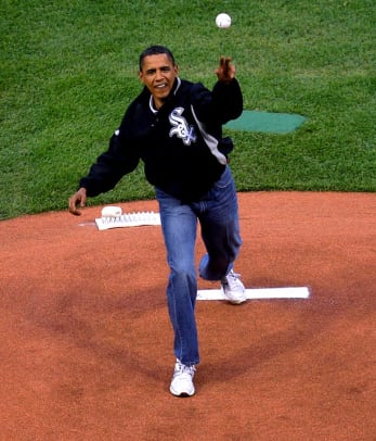 All-Star Game Memorable Moments - 1 - President Obama Throws Out the First Pitch