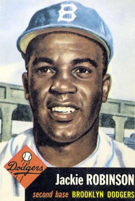 Rare Topps Baseball Cards - 19 - Jackie Robinson