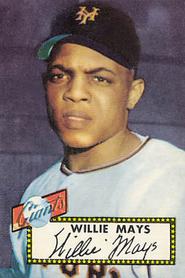 Rare Topps Baseball Cards - 1 - Willie Mays