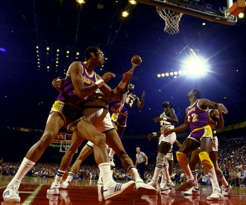 Nuggets-Lakers 1985 Western Finals - 1 - James Worthy