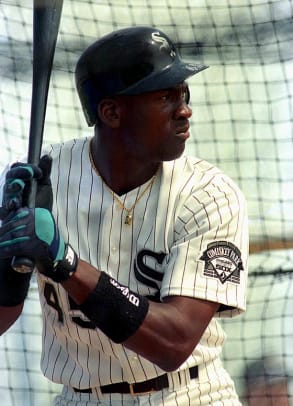 Michael Jordan Playing Baseball - 2