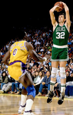 Celtics vs. Lakers in the '80s - 30 - Kevin McHale and Orlando Woolridge
