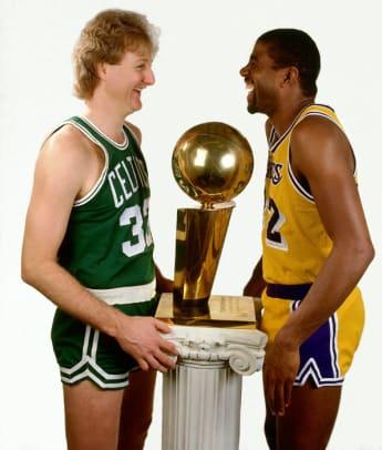 Celtics vs. Lakers in the '80s - 1 -  Larry Bird and Magic Johnson